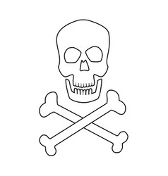 Medical skull bones crossed human danger concept vector