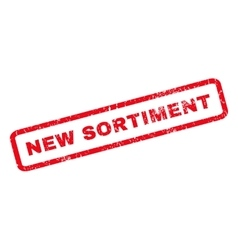 New Sortiment Rubber Stamp vector image