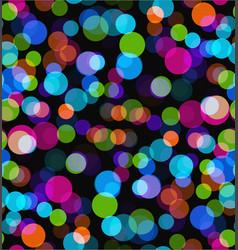 Night lights seamless bokeh background vector