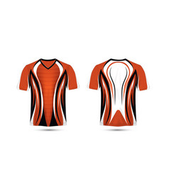 Orange white and black layout e-sport t-shirt vector