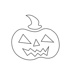 Pumpkin for halloween icon outline style vector