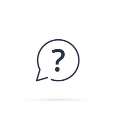 question mark icon faq button for website vector image