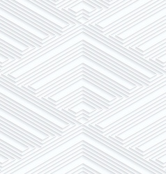 Quilling white paper striped corners vector