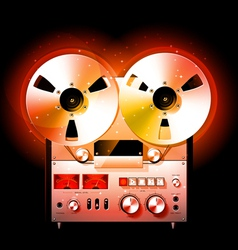 reel to reel stereo tape deck recorder vector image