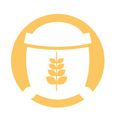 Sack of wheat icon vector