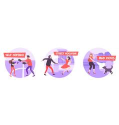 Self defense compositions set vector