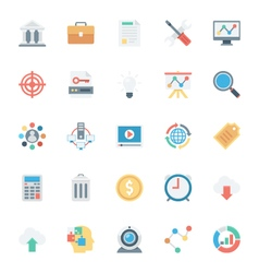 SEO and Marketing Colored Icons 1 vector image