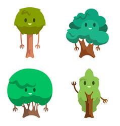 Set different anthropomorphic trees vector