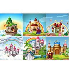 Set medieval castle vector