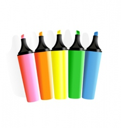 set of markers vector image