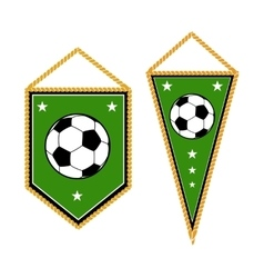 Set of soccer pennants isolated white vector image