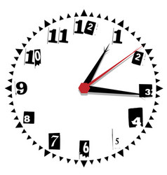 simple black and white thirty-thirty edition clock vector image