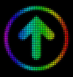 Spectrum dotted rounded arrow icon vector