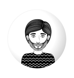 Sphere half body guy with beard vector