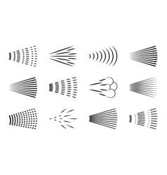 Spray icon logo water in shower symbol of vector