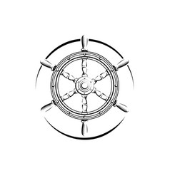 steering wheel engraving vector image