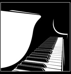 Stylized grand piano vector