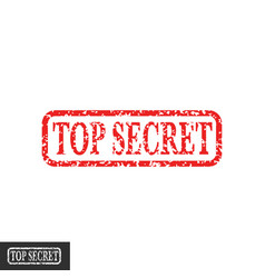 top secret stamp symbol grungy retro vector image