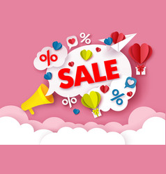 valentines day sale poster banner design template vector image