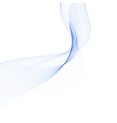 Wave of blue smoke abstract background element vector
