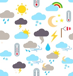 Weather forecast pattern stickers vector