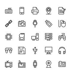 Web and mobile ui line icons 15 vector