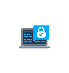 Website security test icon vector