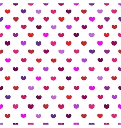 White and pink hearttextile print seamless pattern vector