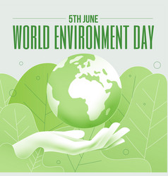 world environment day 5th june banner or poster vector image