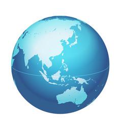 World globe map eastern asia australia centered vector