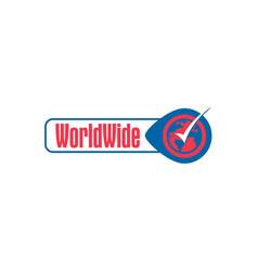 world-wide-logo vector image
