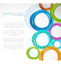 abstract colourful circle vector image vector image