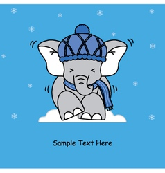 cold elephant vector image vector image
