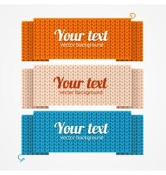 Menu or headers knitted style vector