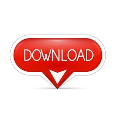 red download web button vector image