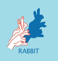 shadow theater hands gesture like rabbit vector image