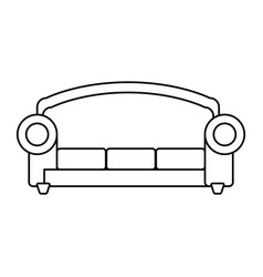 sofa furniture symbol vector image