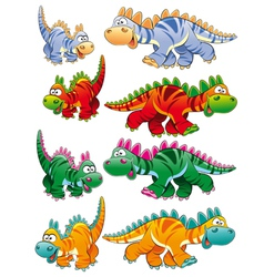 Types of dinosaurs vector image