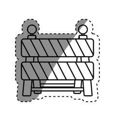Under construction barrier vector