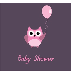 baby shower owl vector image vector image