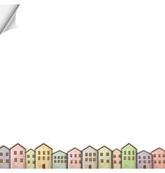 Colorful homes on white paper vector image vector image
