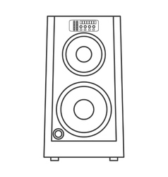 concert speakers icon vector image vector image