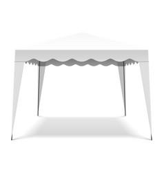 White pop up gazebo canopy folding tent vector