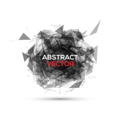 Abstract black geometric explosion speech vector image vector image