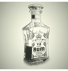 Bottle of Rum vector image vector image