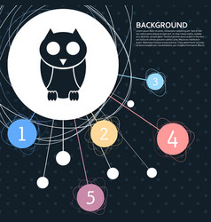 cute owl cartoon character icon with the vector image