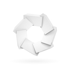 Join white shiny glossy plastic cubes vector image
