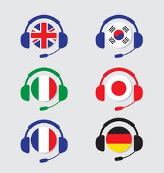 Conversation icons set vector