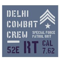 delhi military plate design vector image