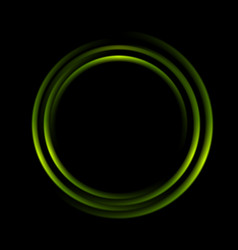 Graphic of abstract green circles vector image vector image